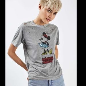 TopShop Disney Minnie Mouse T Shirt Size 4/Small